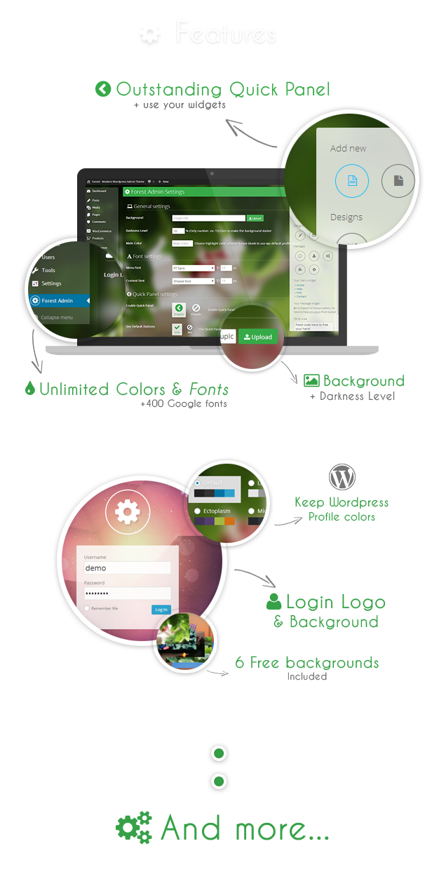 Forest - Revolution WordPress Admin Theme - 1