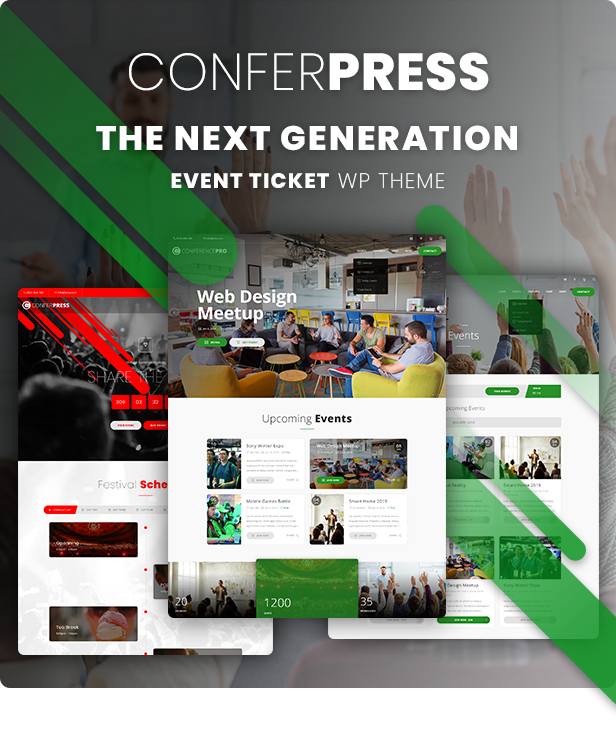 event ticket wordpress theme