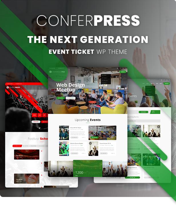 event ticket wordpress theme